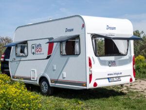 Asuntovaunun vuokraus. Dream 4 karavan Premio Life 430